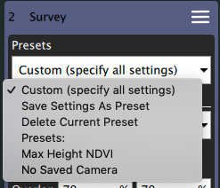 Pattern Presets · QGroundControl User Guide