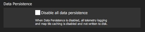 Data Persistence Settings