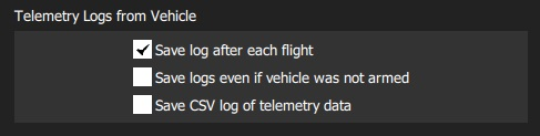 Telemetry Logs from Vehicle Settings