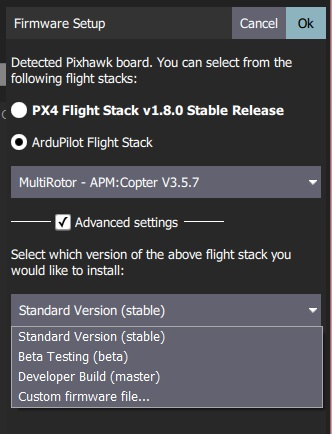 ArduPilot - Advanced Settings