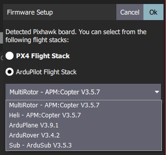 Select ArduPilot